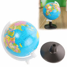 Home Decor World by 8 5cm World Globe Atlas Map With Swivel Stand Geography