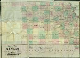 Map Of Kansas City 1870 Kansas Sectional Map