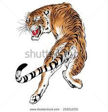japanese tiger stock illustration 218212231
