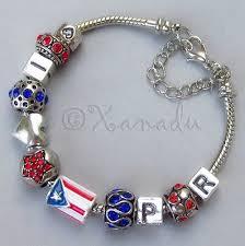 european charm bracelet beads images Puerto rico european charm bracelet with puerto rican flag bead jpg