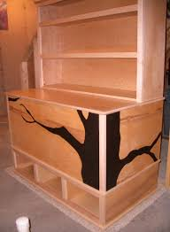 woodworking plans toy box with cubbies and bookshelf