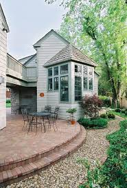 Painting Patio Pavers Kansas City Painting Patio Pavers Traditional With Container Plant