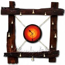 buy abstract sleeper wood large wall clock online in india