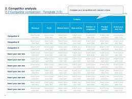 competitive analysis templates competitive analysis template 9