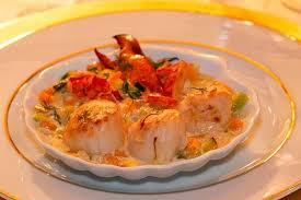 cuisine homard recette de coquille de noix de st jacques et homard au chagne