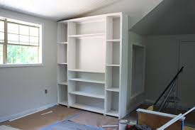 Kitchen Shelves Vs Cabinets Create Built In Shelving And Cabinets On A Tight Budget