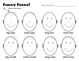 Creative Writing Prompts For Kids Worksheets Faces