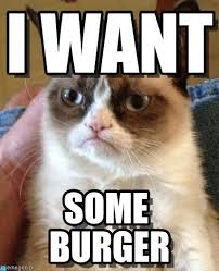 Meme Burger - i want grumpy cat meme on memegen