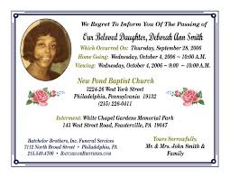 memorial card template free funeral announcement template free