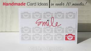 Homemade Card Ideas by Homemade Card Ideas With Project Life Youtube