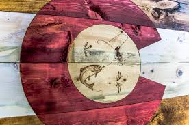 Sport Fishing Flags Custom Colorado Woodcraft