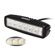 Waterproof Led Light Bar 12v by Amazon Com Kawell K5 5118 18w 6 2 Inch Dc 9 32v 6500k 1170lm 90