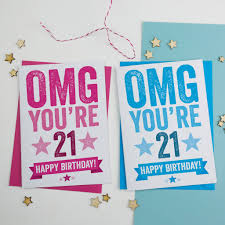 21 Birthday Card Design Omg You U0027re 21 Birthday Card By A Is For Alphabet