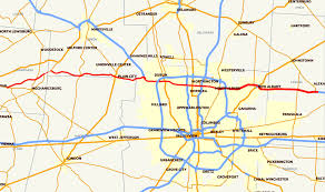 map of columbus ohio state route 161