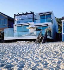 alluring modern beach houses designs with minimalist level floors