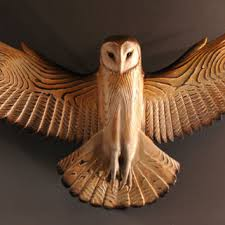 cool wood sculptures best wood owl sculpture products on wanelo