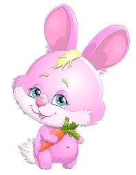cute pink bunny with carrot png clipart picture gallery