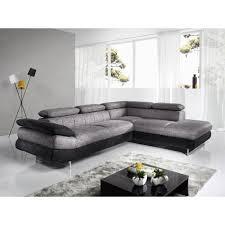 canap tissu gris chin canapé d angle gris chiné et noir en pu et tissu esteban 5 angle à