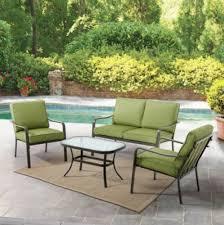Patio Furniture Conversation Set - amazon com mainstays stanton cushioned 4 piece patio conversation