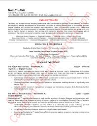 Example Of Teaching Resume by Best Solutions Of English Teacher Resume Sample For Your Format
