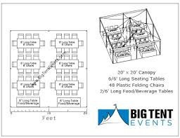 tent rental cost big tent events 20x20 canopy rental package tables chairs big