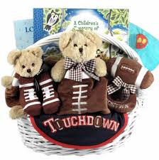 Baby Gift Baskets Delivered Touchdown Tyke Baby Boy Football Gift Basket