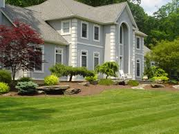 landscape house front of house landscape in montebello rockland county ny the
