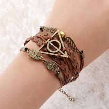 charm bracelet leather images Leather multilayer charm bracelet granit world jpg