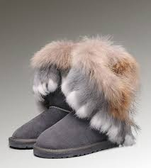 womens ugg boots grey 48 best ugg fox fur boots images on fox fur fur