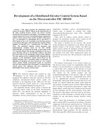 development of a distributed elevator control system based on the
