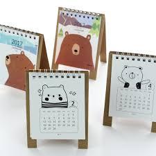 2017 year kawaii cartoon bear calendar 12 5 9 5cm creative desk