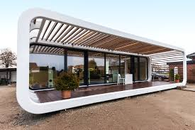 these sleek prefabs come with smart home features prefab square