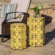 Outdoor Accent Tables End Table Decor Indoor Plant Stand Moroccan