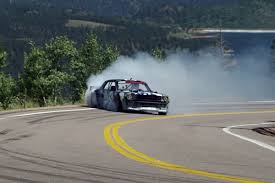 hoonicorn v2 ken block smokes pikes peak carsguide oversteer
