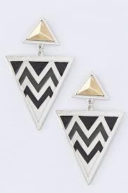 triangle earrings earrings bellelizza