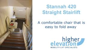 Stannah Stair Lift For Sale by Stannah 420 Straight Stairlift Youtube