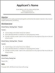 Teacher Resume Sample Essay Topics For Doctor Zhivago Application Letter Examples Job