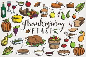 thanksgiving feast clipart illustrations