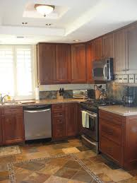 kitchen kitchen floor ideas in brown themed kitchen with brown