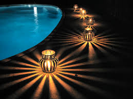 Home Decoration During Diwali Upcycled Coffee Can Luminaries Pool Side Luminaries