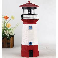 solar lighthouse with rotating l garden outdoor