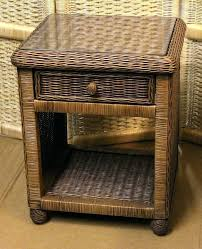 rattan bedside tables organic striped wood coffee table rattan
