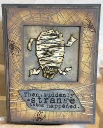 tim holtz halloween dies the mummy tim holtz stamps sample monstrous cms307
