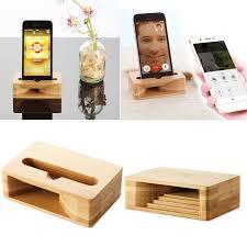 support t hone portable bureau téléphone amplificateur universel bambou mobile téléphone