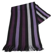 bassin and brown hornby stripe scarf purple black purple black