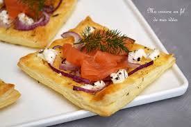 canapé saumon fumé recette de feuilletés au fromage de chèvre oignon et saumon fumé