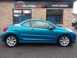 used peugeot finance used peugeot 207 1 6 sport cc blue 1 6 convertible llantwit