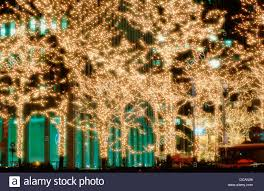 New Christmas Lights by Christmas Lights On 6th Avenue New York City Usa Stock Photo