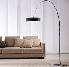 light modern arc floor lamps black shades sleek elegant styles