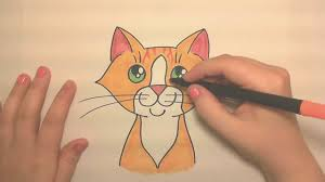 learn to draw a cute orange tabby cat face icanhazdraw youtube